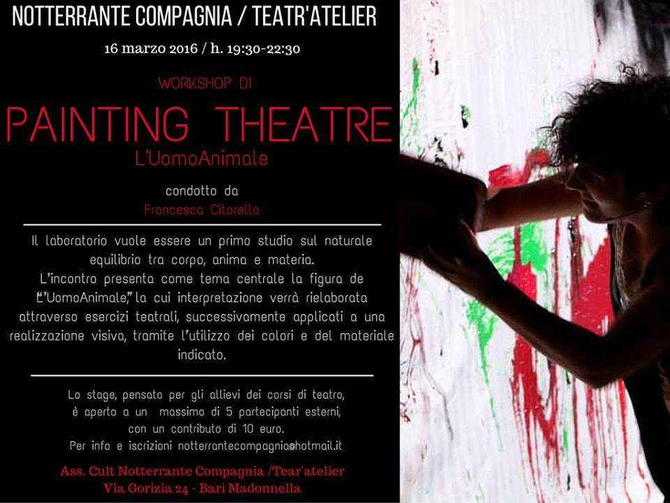 L'Uomo Animale_workshop di Painting Theatre